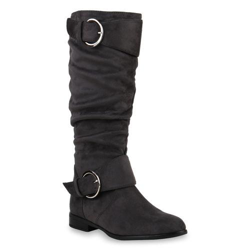 Damen Klassische Stiefel Grau