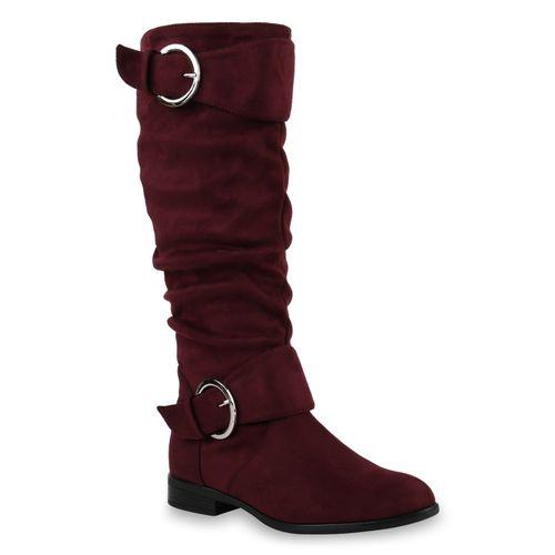 Burgund Damen Damen Klassische Klassische Stiefel Wq4I14g
