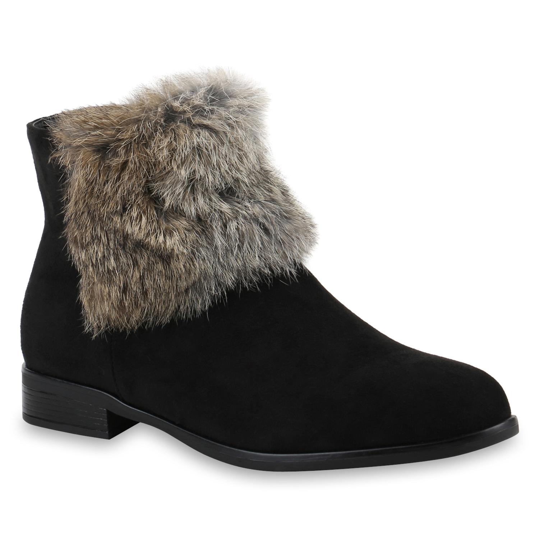 Damen Klassische Stiefeletten - Schwarz Grau