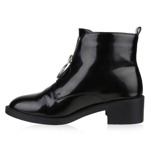 Billig Damen Schuhe Damen Stiefeletten in Schwarz 8178113401