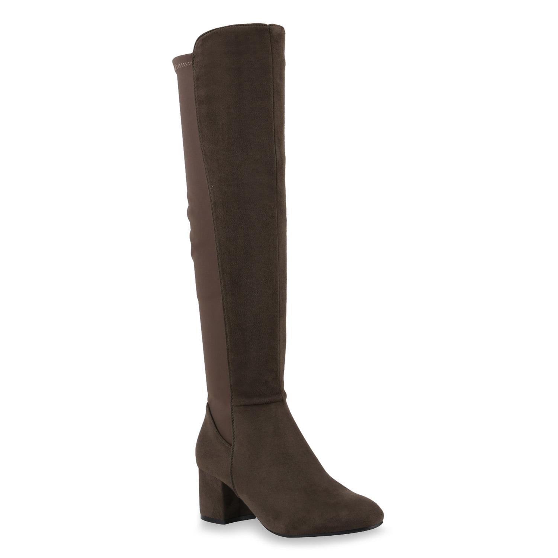 Damen Klassische Stiefel - Dunkelgrün