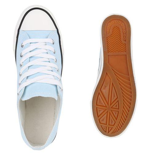 Damen Sneaker low - Hellblau Schwarz