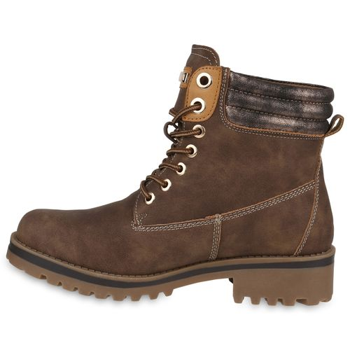 Damen Worker Stiefeletten Worker Damen Boots Stiefeletten Boots Khaki Boots Stiefeletten Khaki Damen Worker 4vZdqvF