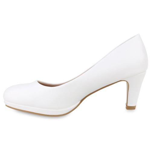Damen Klassische Pumps - Weiß