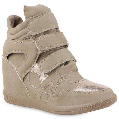 Khaki Wedges Damen Sneaker Damen Sneaker tHO8II