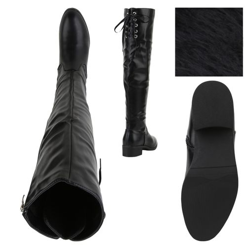 Billig Damen Schuhe Damen Stiefel in Schwarz 8935453401