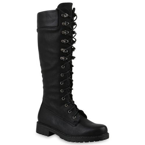 neues Konzept billiger Verkauf kauf verkauf Damen Stiefel Worker Boots - Schwarz