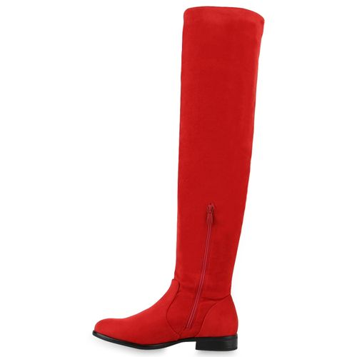 Billig Damen Schuhe Damen Stiefel in Rot 893546523