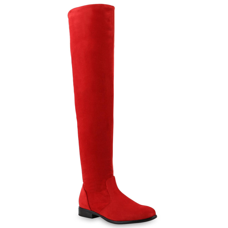 Damen Stiefel Overknees - Rot