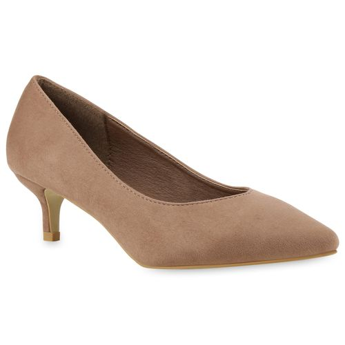 Damen Pumps Spitze Pumps - Khaki