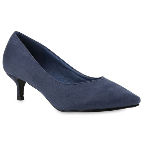 Damen Pumps Spitze Pumps - Blau