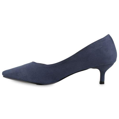 Damen Spitze Pumps - Blau