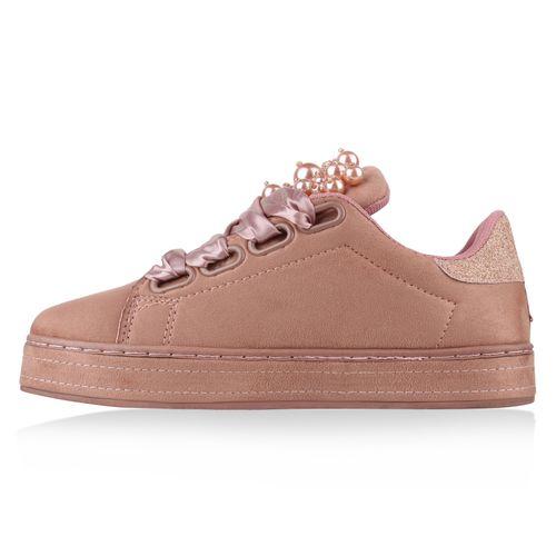 Damen Rosa Plateau Plateau Sneaker Damen Fx6wfvvOq