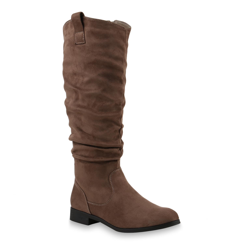 Damen Stiefel Cowboystiefel - Khaki