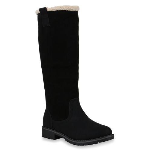 Winterstiefel Damen Damen Schwarz Stiefel Stiefel Yz7SqPz