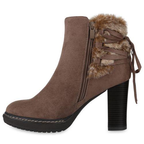 Khaki Stiefeletten Plateau Damen Stiefeletten Damen Boots nR6EHU