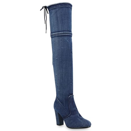 f39e75c379df8a Damen Stiefel in Blau Denim (890398-3574) - stiefelparadies.de
