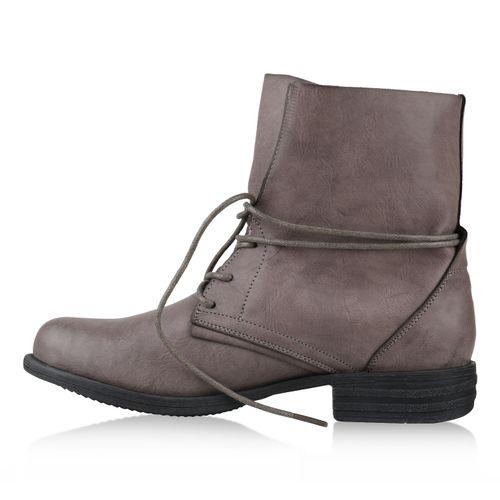 Damen Schnürstiefeletten - Grau