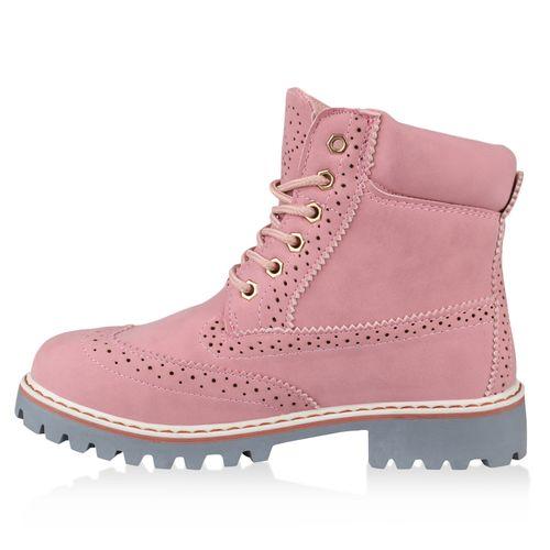 Worker Rosa Damen Stiefeletten Worker Stiefeletten Boots Boots Rosa Damen A8FcrFTO