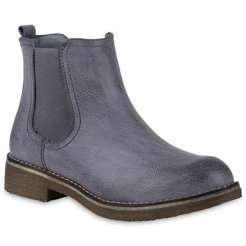 outlet store 8d1b2 da31e Damen Stiefeletten Chelsea Boots - Blau