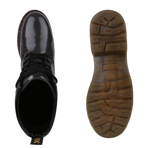 Boots Grau Damen Worker Stiefeletten Stiefeletten Damen waSqXvI