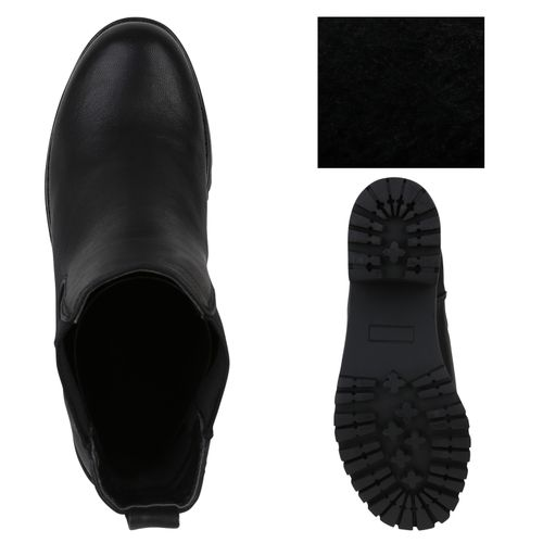 Damen Damen Schwarz Stiefeletten Stiefeletten Chelsea Boots ZZnpqfvr