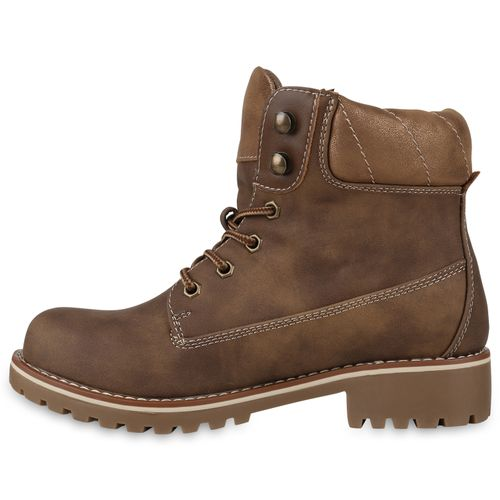 Damen Khaki Stiefeletten Boots Worker Worker Damen Stiefeletten 7PdqPpFRw