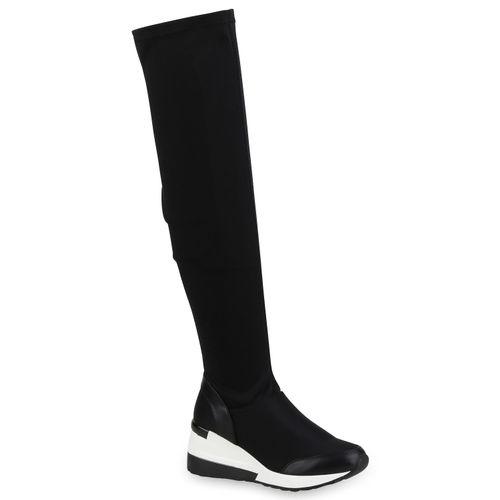 Damen Stiefel Overknees - Schwarz