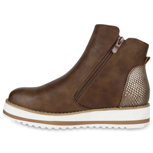 Plateau Damen Khaki Stiefeletten Boots Damen Khaki Stiefeletten Plateau Boots O6qIxEZw7