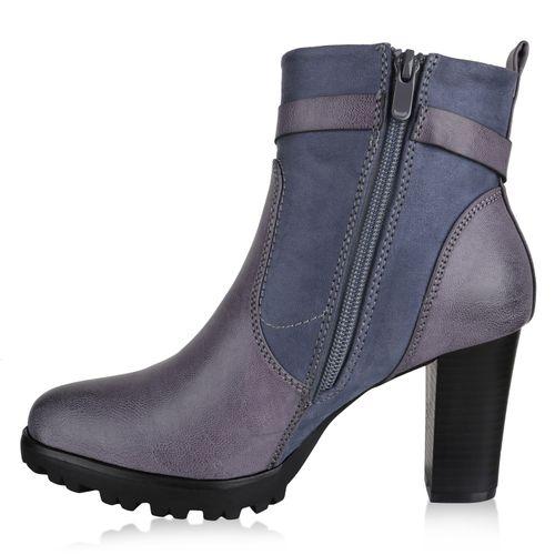 brand new 47240 51f96 Damen Klassische Stiefeletten - Grau Blau
