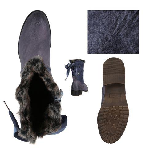 Damen Klassische Stiefeletten - Blau Grau