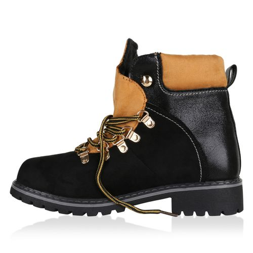 Damen Damen Schwarz Boots Worker Stiefeletten Boots Boots Schwarz Worker Damen Worker Stiefeletten Stiefeletten nf1B8qFfwx