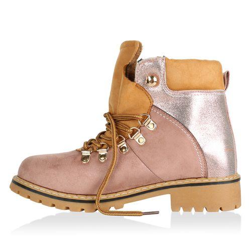 Rosa Worker Stiefeletten Damen Boots Stiefeletten Damen W1nxfwWH