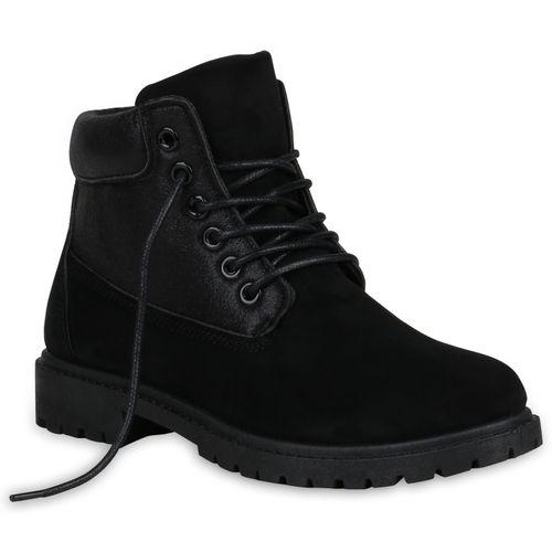 Boots Schwarz Stiefeletten Damen Stiefeletten Damen Worker qOwTPITU