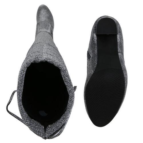 Overknees Silber Overknees Damen Stiefel Stiefel Stiefel Silber Damen Silber Overknees Damen TEPAqq6n
