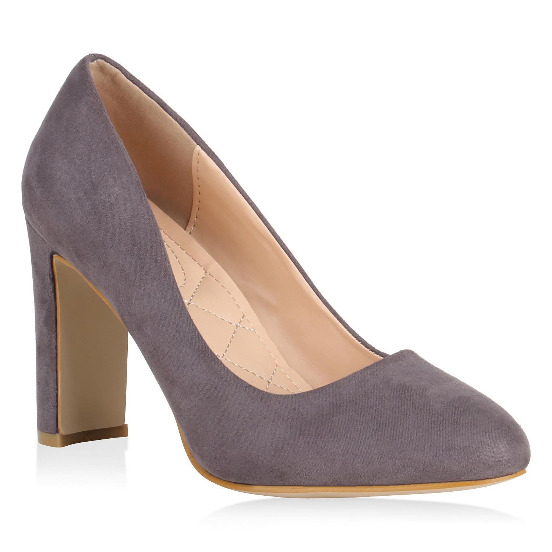 Damen Pumps High Heels - Grau