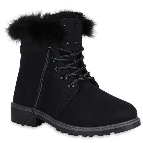 Schwarz Damen Stiefeletten Worker Worker Boots Stiefeletten Damen Un6wzxPqY