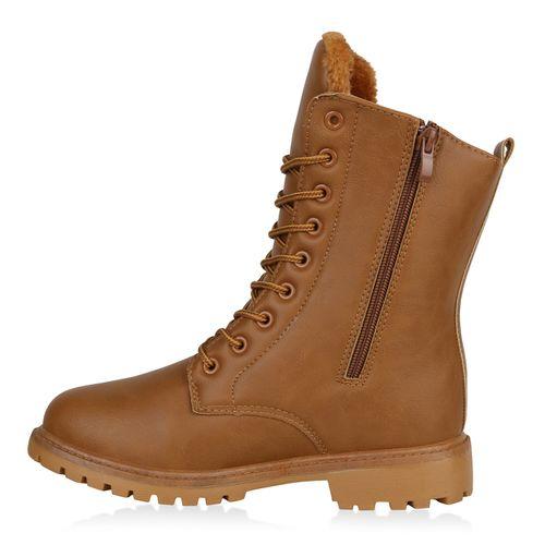 Boots Hellbraun Worker Damen Stiefeletten Stiefeletten Damen TSOqO4
