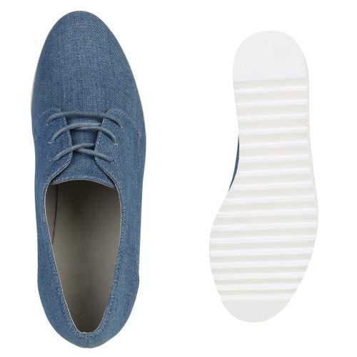 Billig Damen Schuhe Damen Halbschuhe in Hellblau 819423490