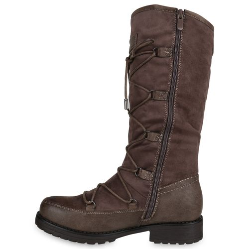 Klassische Damen Stiefel Khaki Stiefel Damen Klassische 6q1UaO