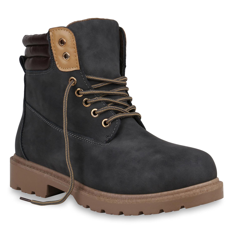 Herren Worker Boots - Dunkelgrau