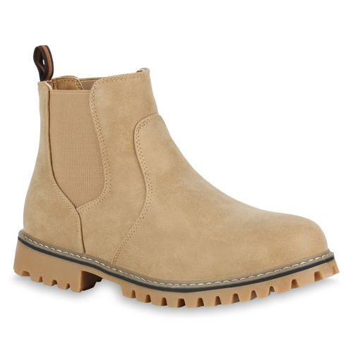 Herren Chelsea Boots - Hellbraun