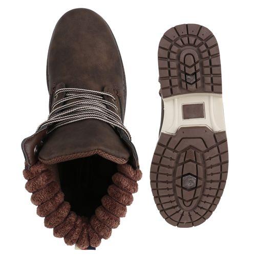 Braun Damen Worker Damen Boots Stiefeletten Stiefeletten qxnZPZX5H
