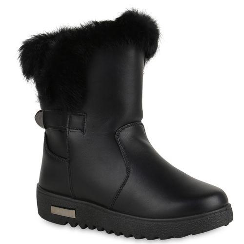 Boots Schwarz Damen Winter Stiefeletten Boots Winter Stiefeletten Schwarz Damen dwqWEf8