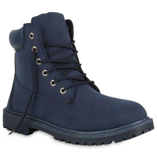 Herren Worker Boots - Dunkelblau