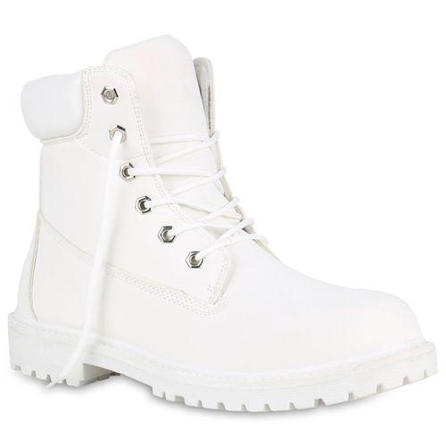 Herren Worker Boots - Weiß