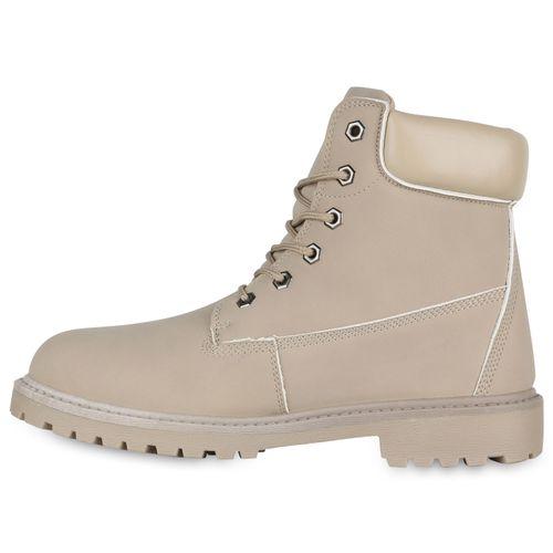 Herren Worker Boots - Creme