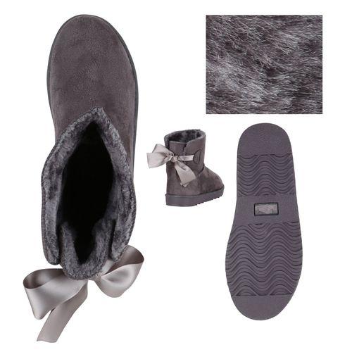 Damen Stiefeletten Schlupfstiefeletten - Grau