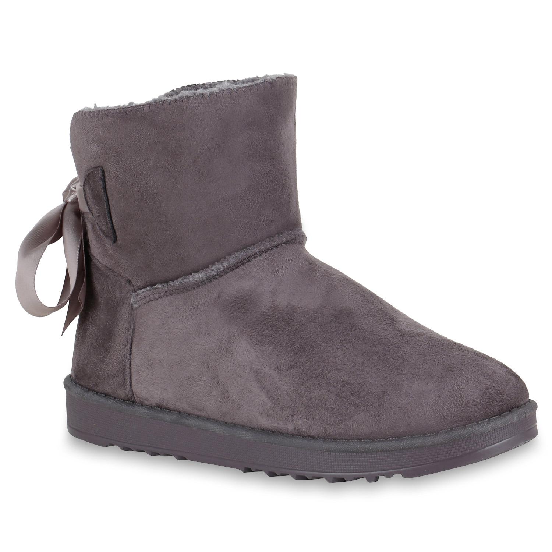 Stiefel - Damen Stiefeletten Schlupfstiefeletten Grau › stiefelparadies.de  - Onlineshop Stiefelparadies