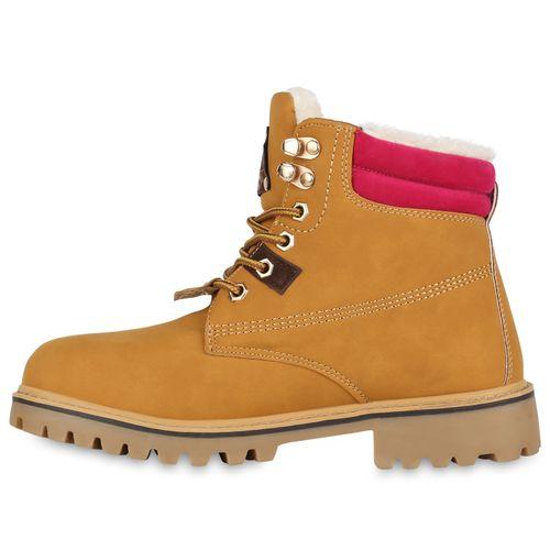 Boots Worker Pink Stiefeletten Damen Hellbraun p8wcPxq